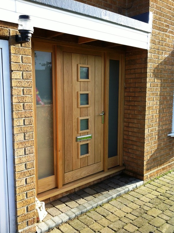 Acorn joinery kitchens latest project new front doors for New front door